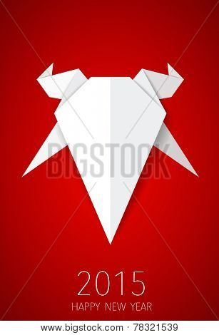 2015 Happy New Year. Year of Goat. Vector illustration.