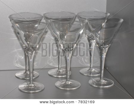 Martinis Glasses Resting Till Summer