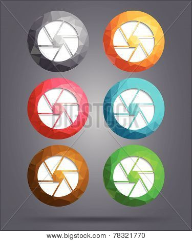 Set Of Icons Diaphragm