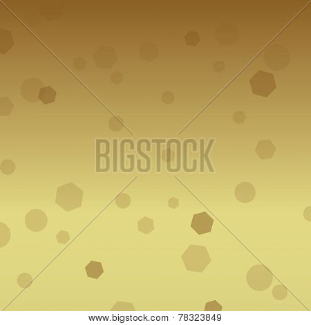 Simple Brown Light Transition With Hexagon And Circles Pattern Eps10