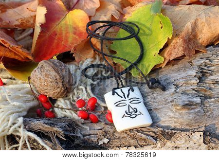 Ethnic Handmade Bone Amulet