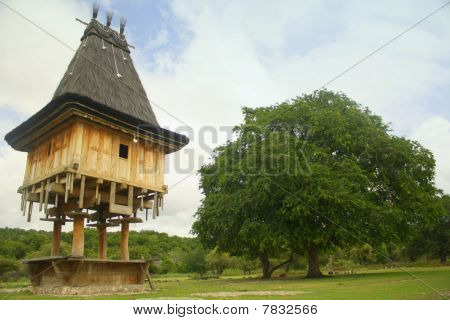 Traditional house in East Timor