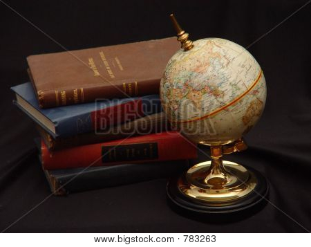 Globe with Books Color
