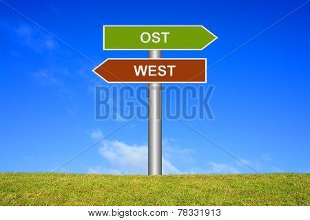 Signs East or West