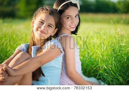 Portrait Of Two Hispanic Teen Girls