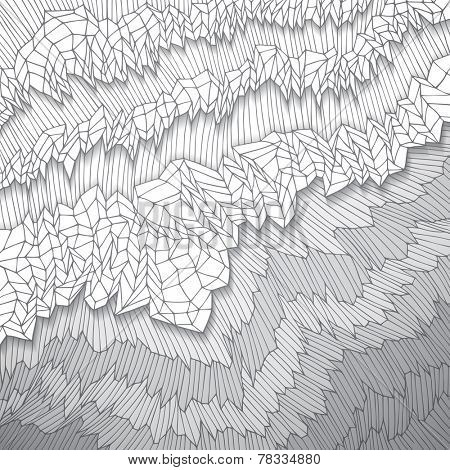 Original hand drawn paper abstract background, vector eps10 illustration