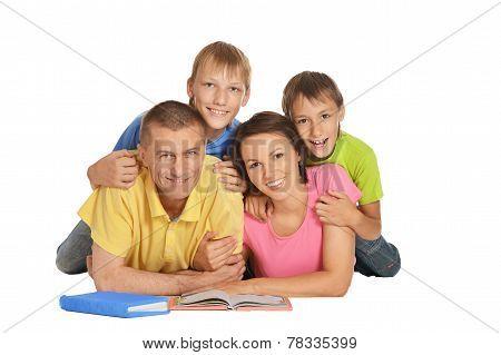 Happy Family Lying