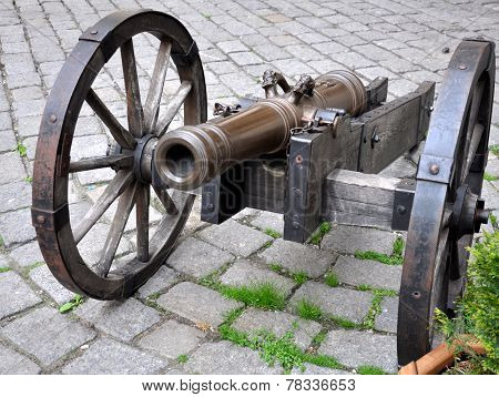 Old military cannon