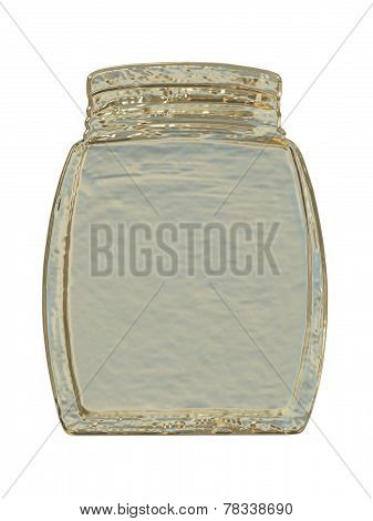 Silver Glass Jar.isolated.
