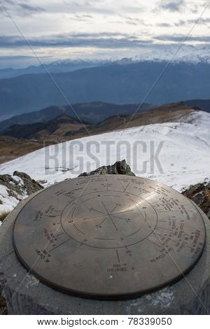 Wind Rose On The Mountains