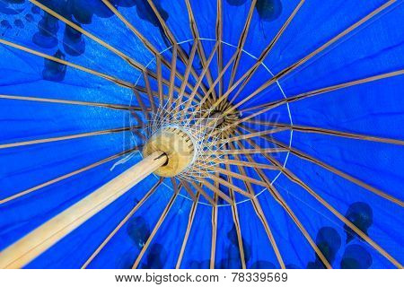 Bamboo structure of handmade umbrella
