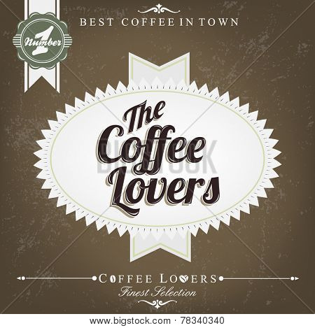 Retro Brown Vintage Coffee Background