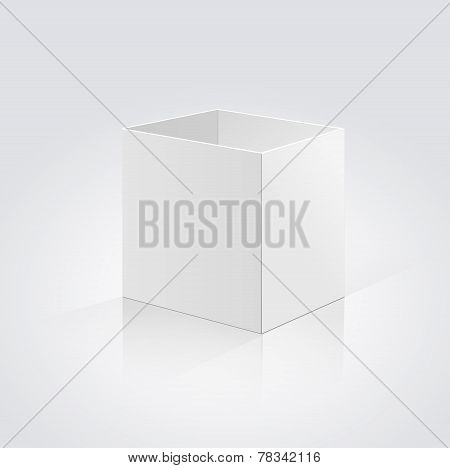 Open box isolated on a white background