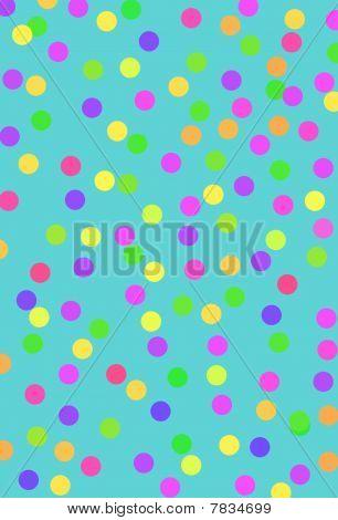 Turquoise abstract polka dot design