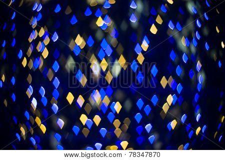Multicolour Bokeh Diamond Shape