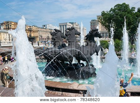 The Fountain With Horses