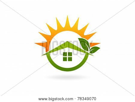 home eco friendly logo