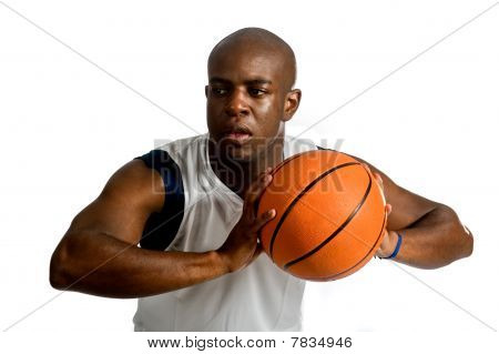 Athletic Man With Basketball