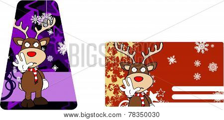 reindeer cartoon stop giftcard