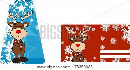 unhappy reindeer cartoon giftcard
