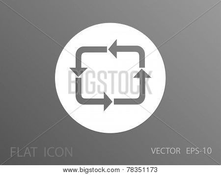 Flat icon of circulation sign