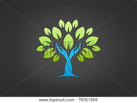 Tree Hand Care Solution Logo
