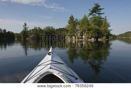 Kayaking On A Calm Lake