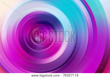 Abstract rainbow spiral, colorful background.