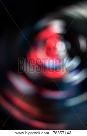 Abstract Colorful Lights Spinning In Circular Background