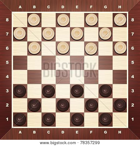 Board with checkers vector