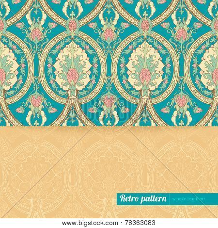 Background With Retro Pattern With Pineapples