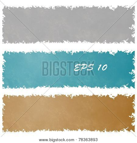 Set of grungy banners