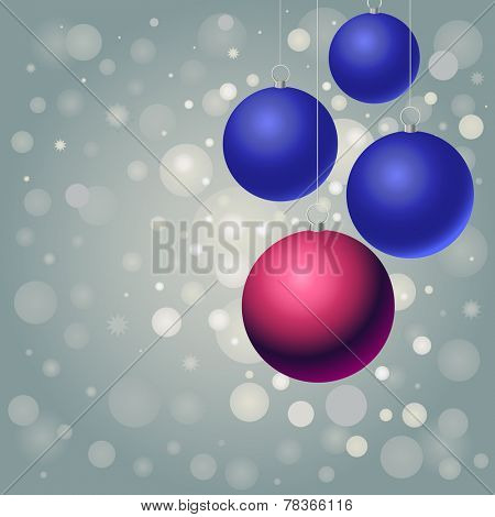 red and blue balls on silver background