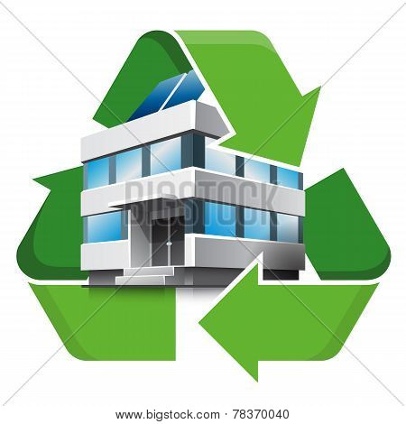 Office Building Recycling Symbol