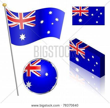 Australian Flag Set