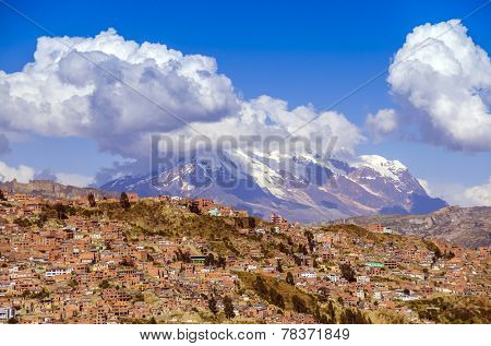 General view of city from a view point - La Paz, Bolivia