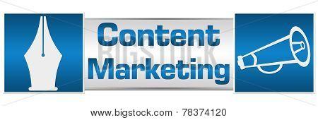 Content Marketing Blue Squares