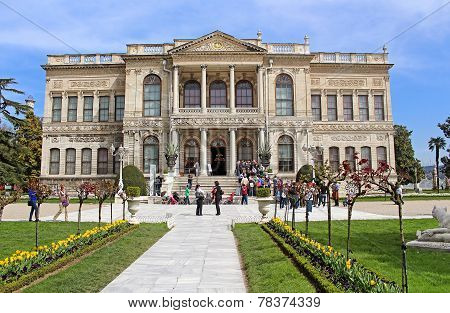 IUnidentified people at Dolmabahce Palace in Istanbul, Turkey