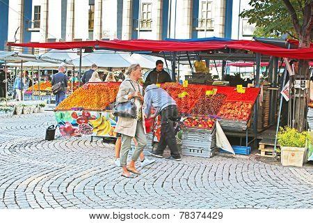 Hay Market (Hotorget) on Hotorget square, Stockholm, Sweden