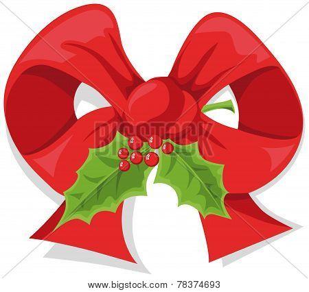 Christmas Holly Bow