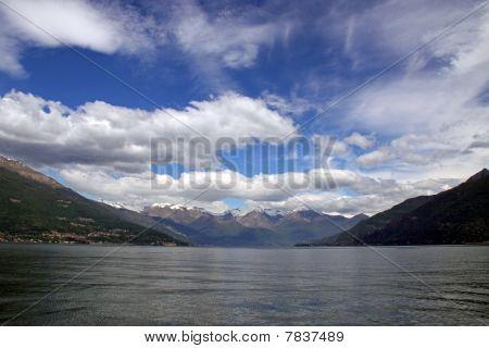 Treviso mountains and Lake Como