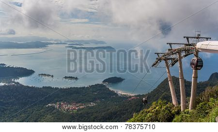 Cable Car To The Top Of Langkawi Island