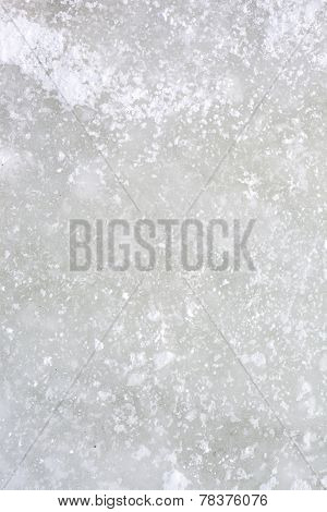 Ice Background From Top Of