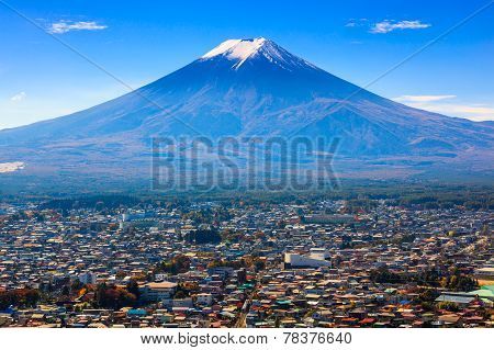 Aerial View Of Mt.fuji, Fujiyoshida, Japan
