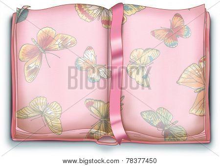 Open secret diary digital illustration