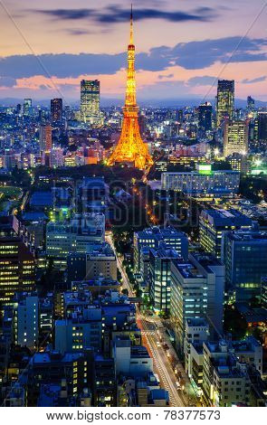 Tokyo City At Night, Japan