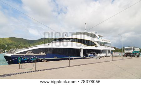 Ferry Refuel In The Port