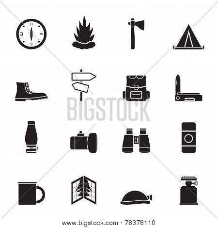 Silhouette Tourism and Holiday icons