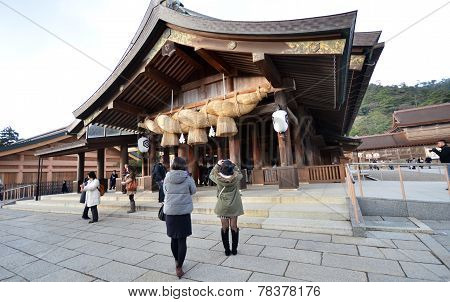Tourists Visit Izumo-taisha On December 06, 2014 In Kyoto