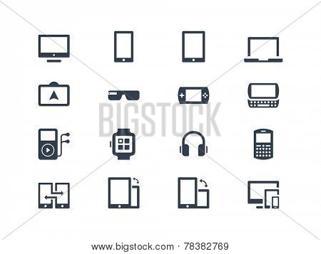 Device icons. Gadgets